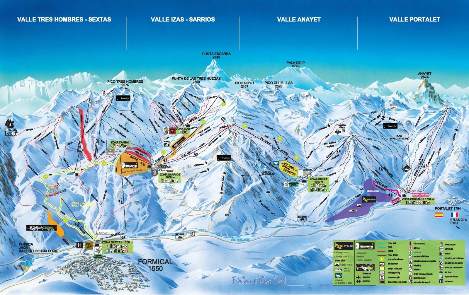 Plano de pistas de formigal infonieve es ski cams com