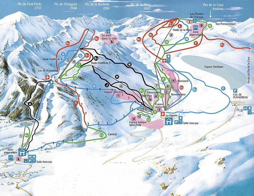 cams pistas de ski: