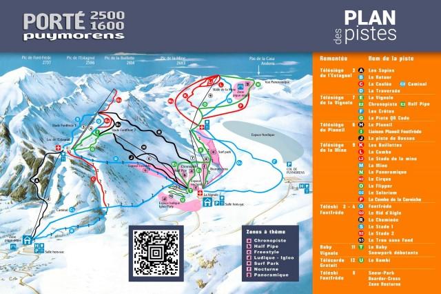Plano de pistas de port puymorens for Porte puymorens